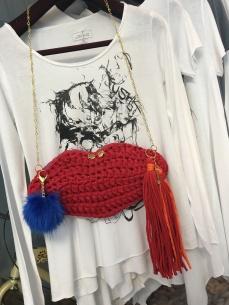 Lipshape Crochet Clutch