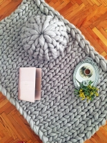 Arm Knitted Pillow and Blanket