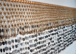 Macrame Wall Hanging with wooden disks